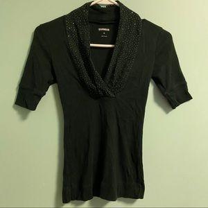 Express Green Scoop Neck Shirt